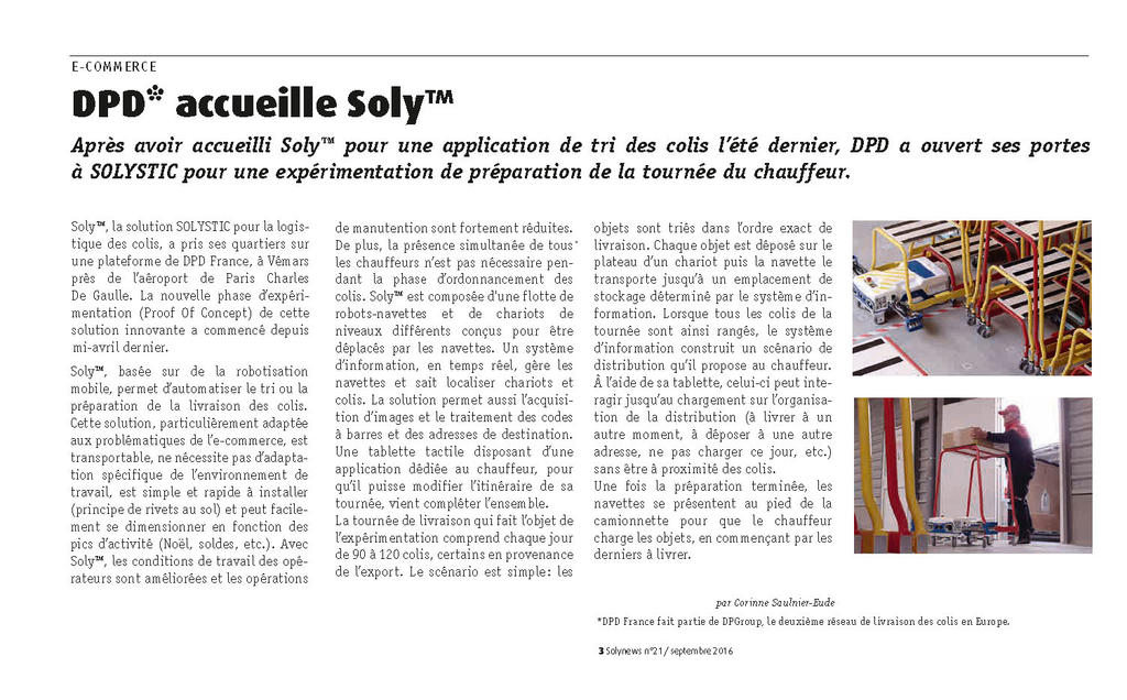DPD* accueille Soly™