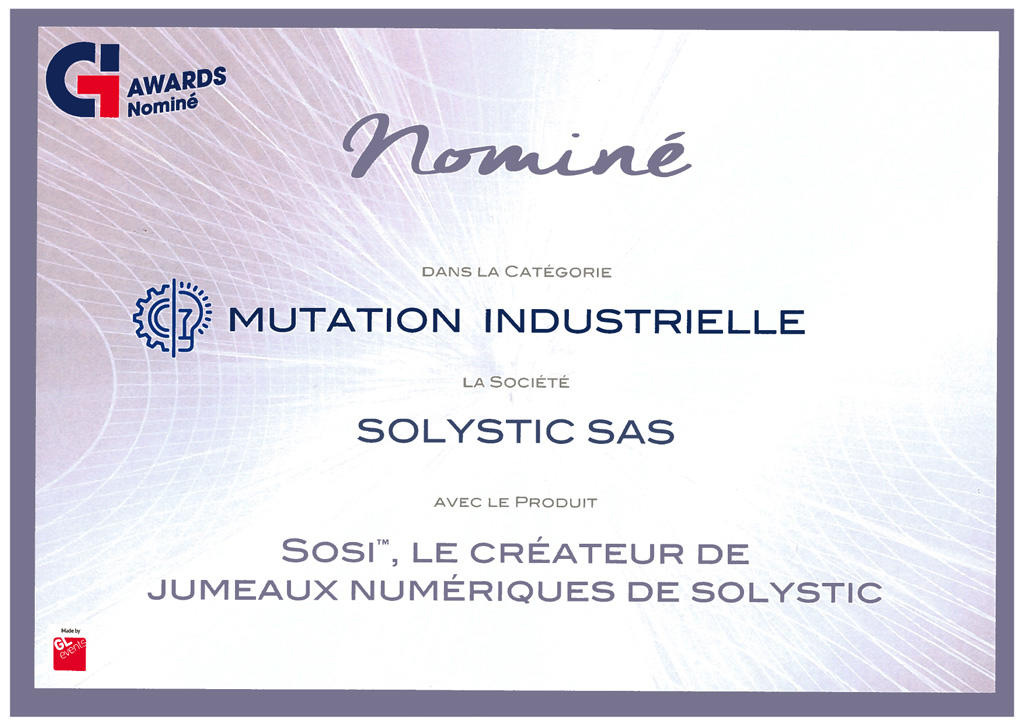 SOLYSTIC nominée par Global Industrie 2019